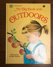 MY BIG BOOK OF THE OUTDOORS Vintage Eloise Wilkin Picture Oversize Golden 1958