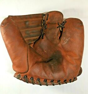 VINTAGE REACH Two Finger Leather Baseball Glove-  'The Ballhawk' - COOL!