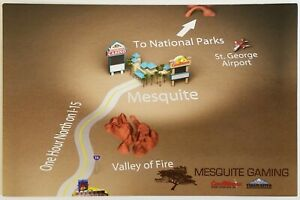 Mesquite Gaming Map NEVADA Postcard Unposted