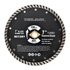 "7"" 5/8 Wet Dry Diamond Masonry Saw Blade Circular Saw Turbo Teeth Brick Slate"