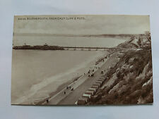 Bournemouth Vintage B&W Postcard c1915 Huts from East Cliff