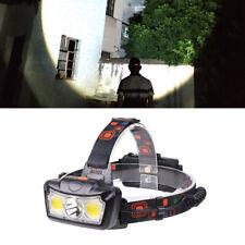 10W LED COB USB Rechargeable 18650 Headlamp Headlight Fishing Flashlight Torch