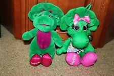 2 Baby Bop Dolls Plush Talking & Water Pals Bathtime Baby Bop 11 inch ~ Barney