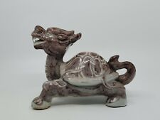 New listing Rare Chinese Red Glaze Porcelain Dragon Head Turtle Statue