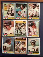 1981 Topps CHICAGO BEARS Complete Team Set W 400 PAYTON Mint-HAMPTON RC 3 PAYTON
