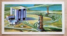 Brooke Bond RACE INTO SPACE card 33. Saturn V rocket, Vehicle Assembly Building.