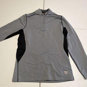 Nike Pro Combat Hyperwarm Dri-Fit Max  Men's   Large   Gray   1/4 Zip Sweatshirt