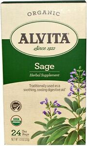 Sage Tea by Alvita, 24 tea bag Organic