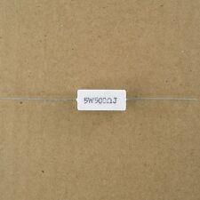 500 Ohm 5W Power Resistor Wirewound Axial Lead Cement Sandstone Wire Wound New