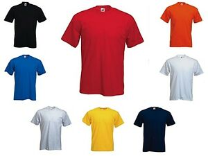 FOTL Mens T-Shirt - Plain Tshirt - Casual Cotton Top -  Size: Small-XXXL - Cheap