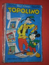 WALT DISNEY- TOPOLINO libretto- n° 237 - originale mondadori-anni 60/70