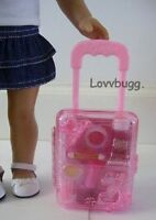 "Pink Rolling Doll Suitcase for 18"" Doll American Girl Widest Variety Accessories"