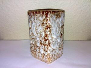 Vase Form 901 S 12 Unknown Keramik rectangular Braun WGP ? 50s 60 ? FAT LAVA ***