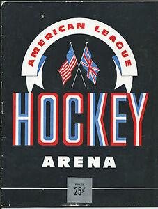 Cleveland Barons Program, 1945- 46 Season, Barons vs New Haven Ramblers