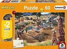 At the Watering Hole Schmidt 56191 Childrens 60 P'ce Jigsaw Puzzle + 2 Figurines