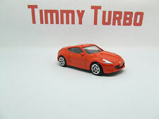 NISSAN 370 Z IN ORANGE 1:57 SCALE GREAT DETAIL MINT 75 MM LONG REALTOY