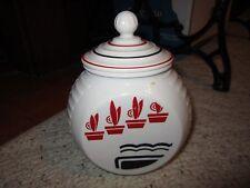 Anchor Hocking Red Flower Pots Grease Jar!!!