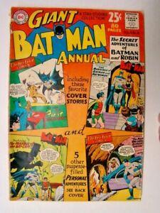 1962 Batman Annual #4 Secret Adventures Batman & Robin 80 Pages DC Comics VG