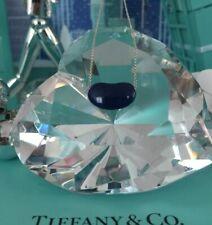 "Tiffany Co Blue Lapis Bean Elsa Peretti Lazuli Necklace Pendant 16"" Pouch Box"