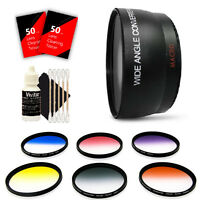 52mm Wide Angle Lens Kit for Canon EOS Rebel T6 T6s and All Canon DSLR Camera