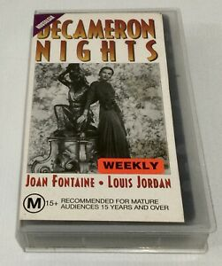Decameron Nights VHS Joan Fontaine Ex Rental