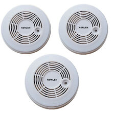 3pcs Combination Carbon Monoxide Fire Smoke Alarm Operate CO & Smoke Detector