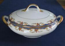 Vignaud St. Quentin – ROUND COVERED VEGETABLE DISH - Limoges France - NICE