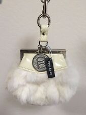 Bebe Genuine Rabbit Fur Purse Authentic New $139