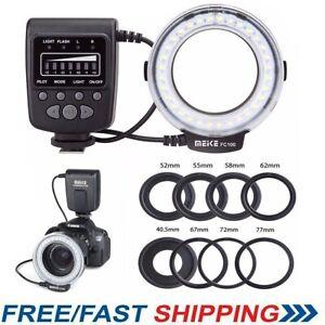 Meike FC-100 LED Macro Ring Flash Light for Nikon Canon Olympus DSLR Camera
