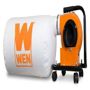 Portable Dust Collector w/12-Gallon Bag - 5.7-Amp 660 CFM Woodworking Sawdust
