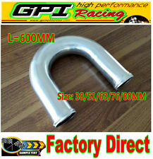 "57mm 2.25"" 180 Degree Elbow Aluminum Turbo Intercooler Pipe Tube Length 600mm"