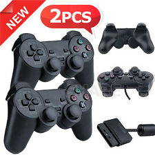 OZ L 2x Dual Shock Wired Game Gamepad for Sony Playstation 2 PS2 Controllers