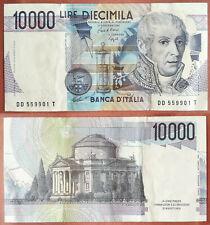Banconota da 10000 Lire A. Volta 1984 SPL C. A. Ciampi
