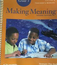 Making Meaning Grade 3 Teacher's Manual Volume 2