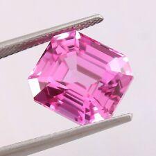 12.00 Ct Natural Transparent Pink Ceylon Sapphire Radiant Cut Loose Gemstone