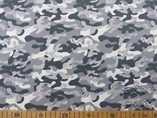 Baumwoll Jersey Glitzer Druck, Camouflage, S&W Stoffe, hellgrau, 150 cm