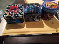 3 -MARVEL UNIVERSE AND X-MEN COLLECTOR TINS NO CARD'S