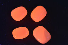 Pink Mangano Calcite Tumbled Stones Fluorescent UV Reactive 4 pieces  # S2