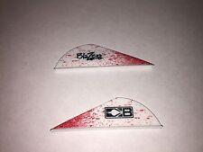 "New Bohning 12 Pack 2"" White Blood Splatter Blazer Vanes Arrow Fletching Feather"