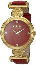 Versus by Versace Women's SOL030015 Sunnyridge Quartz Red leather Gold IP Watch