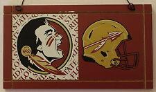 University Florida State Seminoles College NCAA Wood Plaque Sign Helmet a1