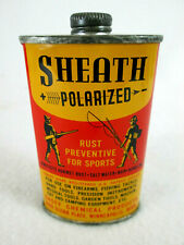 Vintage Sheath Rust Preventive empty metal gun archery sports oil can