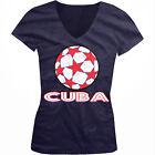 Cuba Stars Soccer Ball Cuban Country Team Born From CUB Juniors V-Neck T-Shirt
