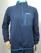 BERGHAUS Blue Pullover Sweatshirt 1/4 Zip Top Size XL Front Pocket Free Post