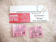 VINTAGE TICKET STUBS TROC RESTAURANT SOUTH PACIFIC GEARY BLVD SAN FRANCISCO 1959