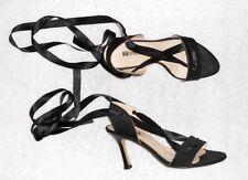 MINELLI sandales satin noir P 37 = 38 TBE