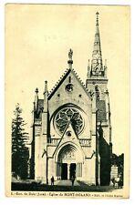 CPA 39 Jura Dole Environs Eglise du Mont-Roland animé