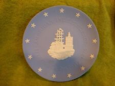 Jasperware Wedgwood American Independence Boston Tea Party Blue Plate