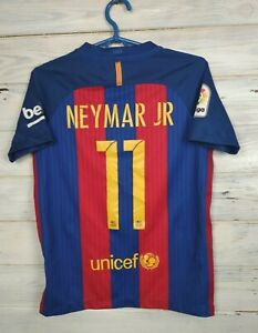 Neymar Barcelona Jersey 2016 2017 Home Size Kids Boys MEDIUM Nike 777029-481