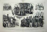 Old Antique Print 1877 War Russian Siers Cossacks Horse Guards Cavalry 19th